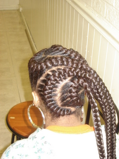 French Braids with Weave
